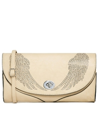 Liquorish Lazer Cut Clutch Bag With Wings Stone