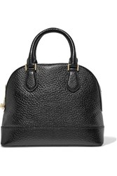 Michael Michael Kors Smythe Textured Patent Leather Tote Black