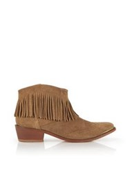 Hudson Tala Fringed Ankle Boots Tan