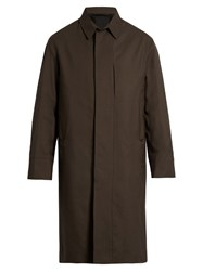 Christophe Lemaire Wool Single Breasted Overcoat Brown
