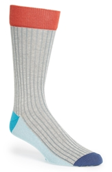 Pact Colorblock Socks Heathere Grey