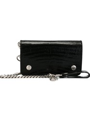 Saint Laurent 'Rider' Chain Wallet Black