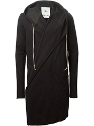 Lost And Found Rooms Wrap Style Hooded Jacket Black