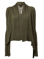 Rick Owens Open Front Cardigan Green
