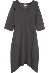 Comme Des Garcons Oversized Wool Blend Midi Dress Gray
