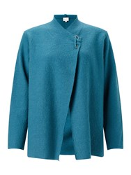 East Boiled Wool Pin Detail Jacket Blue