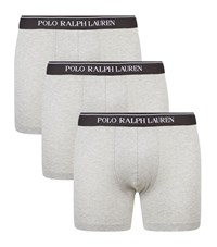 Polo Ralph Lauren Logo Waistband Boxer Briefs Set Of 3 Male Light Grey