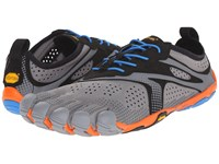 Vibram Fivefingers V Run Grey Blue Orange Men's Shoes Multi