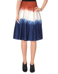 Douuod Skirts Knee Length Skirts Women Blue