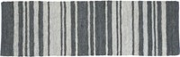 Cb2 Recycled Leather Stripe Runner 2.5'X8'
