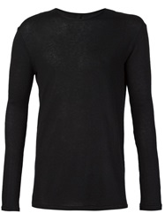Forme D'expression Round Neck Sweater Black