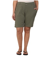 Columbia Plus Size Saturday Trail Long Short Cypress Women's Shorts Green