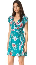 Minkpink Pretty Primrose Wrap Tea Dress Multi