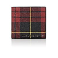 Alexander Mcqueen Men's Plaid Billfold Red