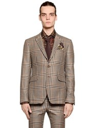Etro Prince Of Wales Cool Wool Blend Jacket