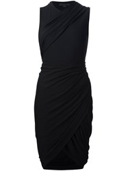 Alexander Wang Wrap Effect Asymmetric Dress Black