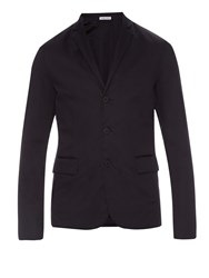 Tomas Maier Notch Lapel Cotton Gabardine Blazer