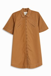 Cecilie Copenhagen Rodeo Shirt Dress Beige