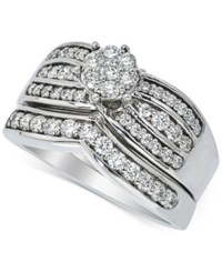 Macy's Diamond Bridal Set 7 8 Ct. T.W. In 14K White Gold