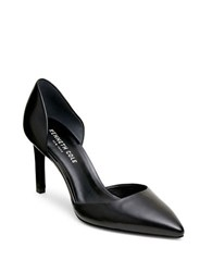 Kenneth Cole Leather Pointed Toe D Orsay Pumps Black