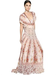 Etro Open Back Floral Silk Georgette Dress