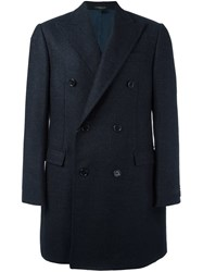 Corneliani Double Breasted Buttoned Coat Black