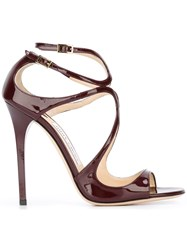 Jimmy Choo 'Lance' Sandals Red
