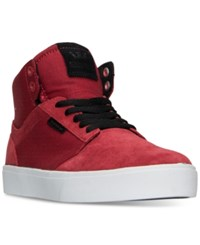 Supra Men's Yorek High Top Casual Skate Sneakers From Finish Line Red White