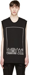 Ktz Black Mirrored Logo Tank Top