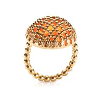 Geraldine Valluet Ring Cabochon Collection Gold And Fire Opal Gold Yellow Orange
