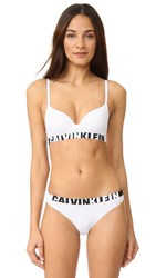 Calvin Klein Underwear Seamless Logo Lightly Lined Demi Multiway Bra White
