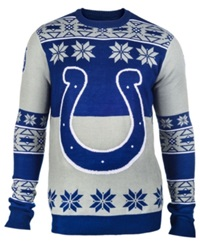 Forever Collectibles Men's Indianapolis Colts Big Logo Christmas Sweater Blue