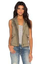 Michael Stars Zip Up Vest Olive
