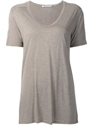 Alexander Wang T By V Neck Top Brown