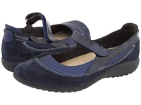 Naot Footwear Kirei Polar Sea Leather Blue Velvet Suede Navy Patent Leather Women's Maryjane Shoes