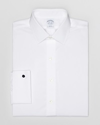 Brooks Brothers Solid Broadcloth Dress Shirt White