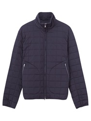 Jigsaw Square Quilted Blouson Jacket Navy