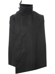 Aganovich Pleated Collar Shirt Black