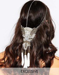 Olivia The Wolf Olivia And The Wolf Beaded Applique Crystal Halo Headband Black