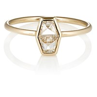 Grace Lee Women's White Diamond And Yellow Gold Module Ring Yellow