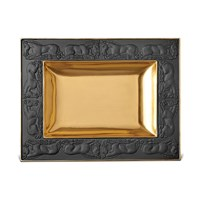 L'objet Horse Rectangular Tray Black