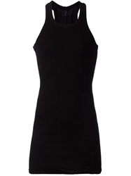 Rick Owens Drkshdw Long Racer Back Tank Black