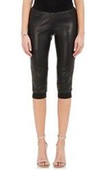 Atm Anthony Thomas Melillo Leather Crop Track Pants Colorless