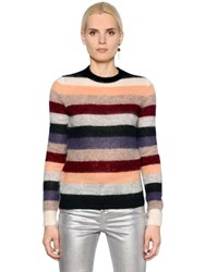 Etoile Isabel Marant Multicolor Striped Mohair And Wool Sweater