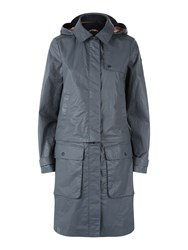 Victorinox Anja Convertible Trench Coat Grey