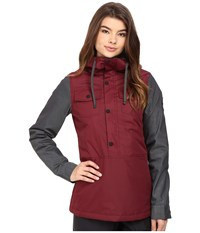 686 Parklan Dusk Insulated Anorak Black Ruby Women's Coat