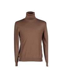 Zanone Turtlenecks Brown