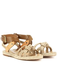 Isabel Marant Etoile Camila Rope And Leather Sandals Beige
