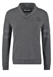 Teddy Smith Puro Jumper Anthracite Chine Mottled Anthracite