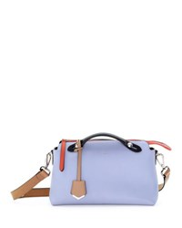 Fendi By The Way Small Colorblock Leather Satchel Bag Coral